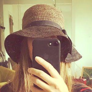 Brixton floppy two-tone straw hat